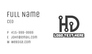 Tech HD Monogram Business Card