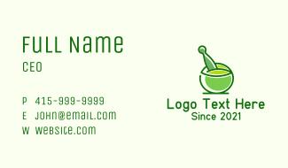 Mortar & Pestle Herb Business Card