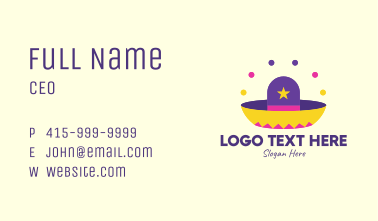 Colorful Mexican Hat  Business Card