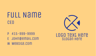 Abstract Circle Letter X Business Card