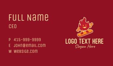 Fire Skater Mascot Business Card