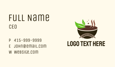 Organic Soup Bowl  Business Card
