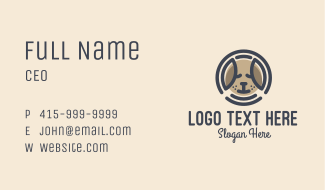 Puppy Dog Circle Business Card