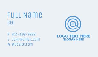 Blue Target Compass Business Card
