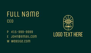 Gold Lunar Eye Line Business Card