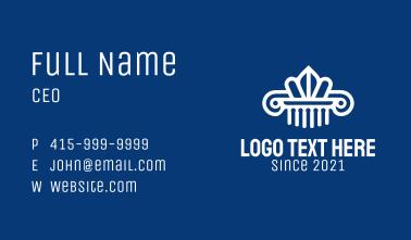 White Ornate Pillar  Business Card