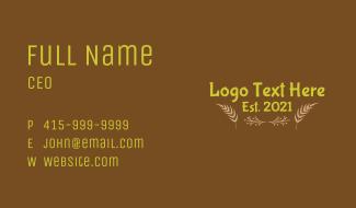 Botanical Leaf Wordmark Business Card