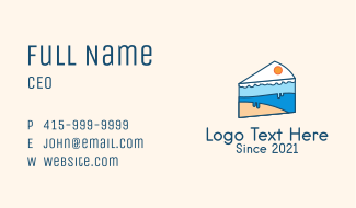 Ice Cake Slice  Business Card