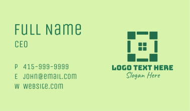 Green Real Estate Property Business Card