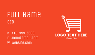 Cooking Shopping Cart Business Card
