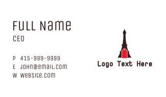 Eiffel Tower Tag Business Card