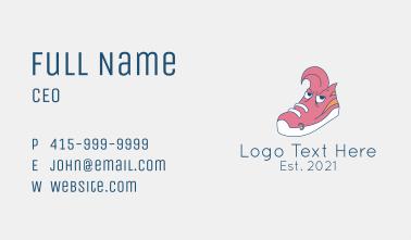 Punk Sneakers Mascot  Business Card