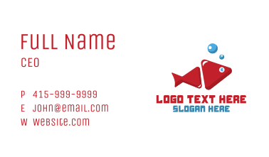 Fish Media Player Business Card