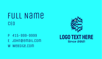 Online Gaming Monster Business Card
