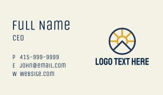 Sun Mountain Badge Business Card