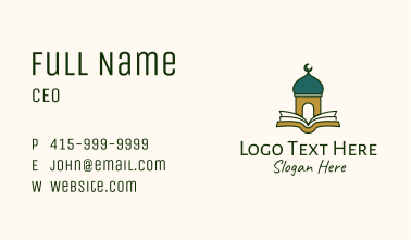 Quran Mosque Temple Business Card