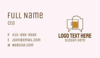 Beer Chat Bubble Business Card