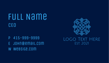 Blue Catholic Cross  Business Card