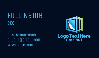 Paper Frame Pages Business Card