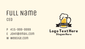 Draught Beer Pub Business Card