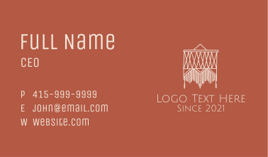 Textile Wall Decor Business Card