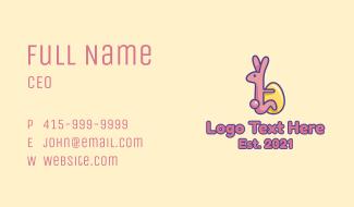 Easter Rabbit Egg  Business Card
