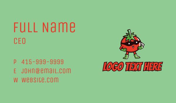 comics - Tomato Hero  Business card horizontal design