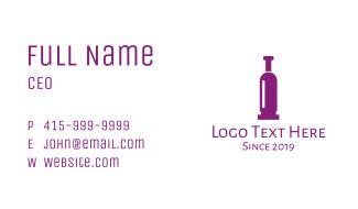 Purple Bullet Wine Business Card