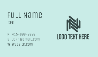 Modern Letter N Company  Business Card