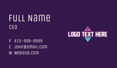 Gaming Volume Wordmark Business Card