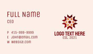 Geometric Star Bookmark  Business Card