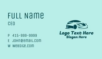 Green Sports Car Business Card