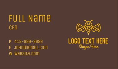 Pizza Bee Outline Business Card