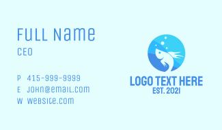 Blue Fish Emblem  Business Card