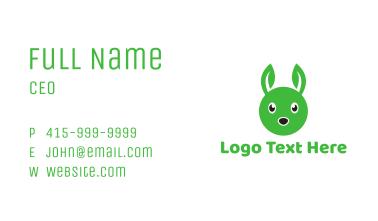 Green Rabbit Leaf Business Card