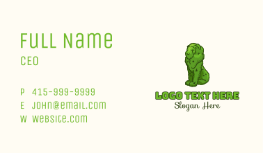 Lion Topiary Plant Business Card