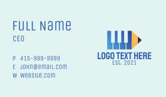 Pencil Piano Composer  Business Card