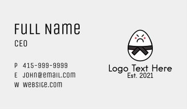Sumo Wrestler Egg  Business Card