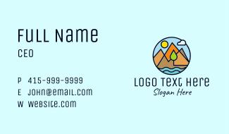 Mountain Nature Adventure Business Card