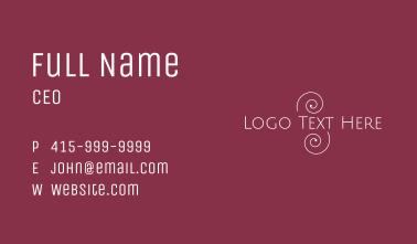 Swirly Line Wordmark Business Card