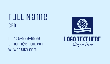 Water Polo Wave Pool Business Card