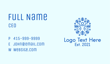 Cool Human Snowflake Business Card