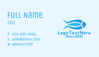 Rocket Submarine Fish Business Card