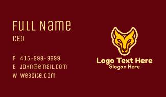 Monoline Lioness Mascot Business Card