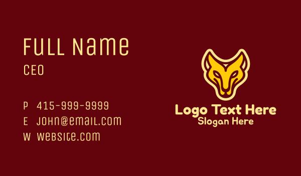 safari park - Monoline Lioness Mascot Business card horizontal design