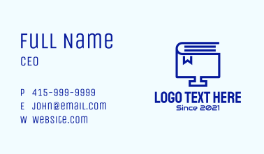 Computer Book Monitor Business Card