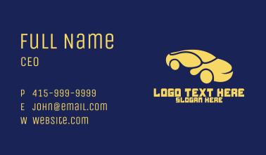 Curvy Yellow Car Business Card