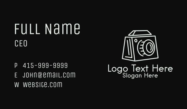 camera man - Minimalist Box Camera  Business card horizontal design