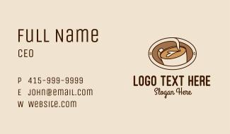 Latte Coffee Art  Business Card