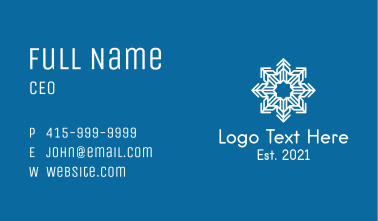 Snowflake Pattern Outline  Business Card
